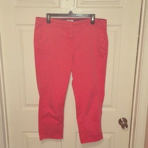 Crown and Ivy Coral Capris